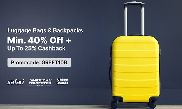 Backpacks & Luggage Bags | Min. 40% Off