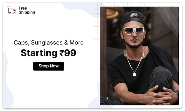 Sunglasses, Belts & More | Starting Rs 99