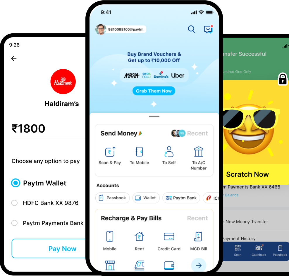 Paytm - India's Most Popular Platform for Money Transfer, BHIM UPI Payments, Recharges and other online payments